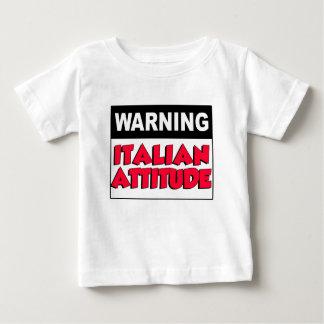 Warning Italian Attitude T-shirt