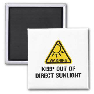 WARNING - Keep Out of Direct Sunlight Magnets