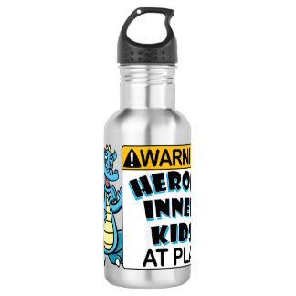 Warning! Kids at Play 532 Ml Water Bottle