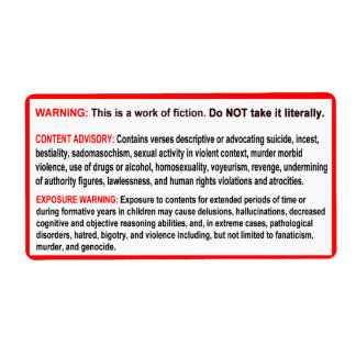 Warning Labels for Your Bible