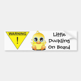 WARNING: Little Duckling On Board Bumper Sticker