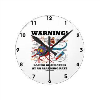 Warning! Losing Brain Cells At An Alarming Rate Wall Clock