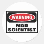 Warning MAD SCIENTIST Sticker