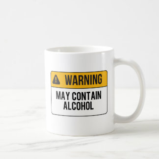 Warning - May Contain Alcohol Coffee Mug