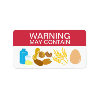 Warning May Contain Allergens Alert Food Safety Address Label