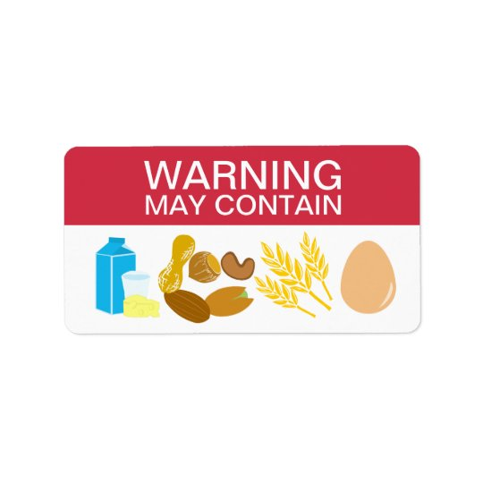 Warning May Contain Allergens Alert Food Safety Label