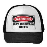 Warning MAY CONTAIN NUTS Hat
