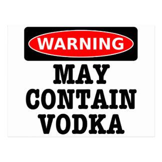 Warning May Contain Vodka Postcard