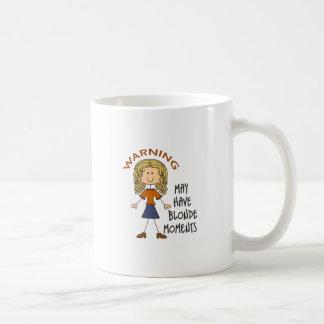 Warning May Have Blonde Moments Basic White Mug
