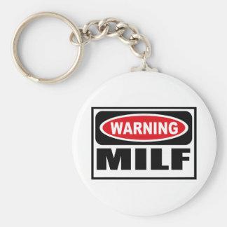 Warning MILF Key Chain