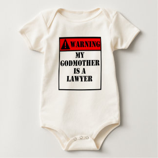 Warning My Godmother Is A Lawyer Baby Bodysuit