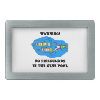 Warning! No Lifeguards In The Gene Pool (DNA) Rectangular Belt Buckle