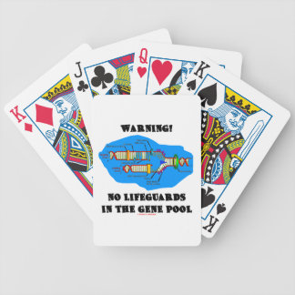 Warning! No Lifeguards In The Gene Pool (DNA) Bicycle Poker Deck