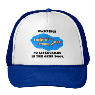 Warning! No Lifeguards In The Gene Pool Mesh Hats