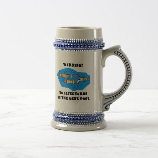 Warning! No Lifeguards In The Gene Pool Mug