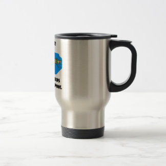 Warning! No Lifeguards In The Gene Pool Stainless Steel Travel Mug