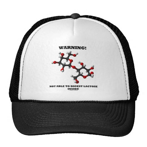 Warning! Not Able To Digest Lactose Inside Trucker Hat