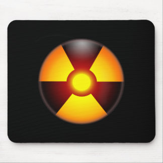 Warning Nuclear Radiation Mouse Mat