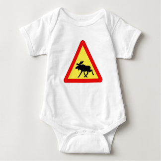 Warning of the moose baby bodysuit