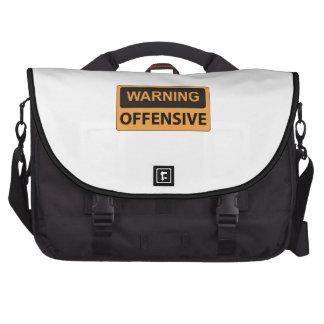 Warning Offensive Computer Bag