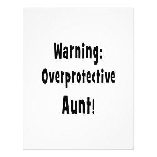 warning overprotective aunt black. custom flyer