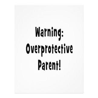 warning overprotective parent black text flyers
