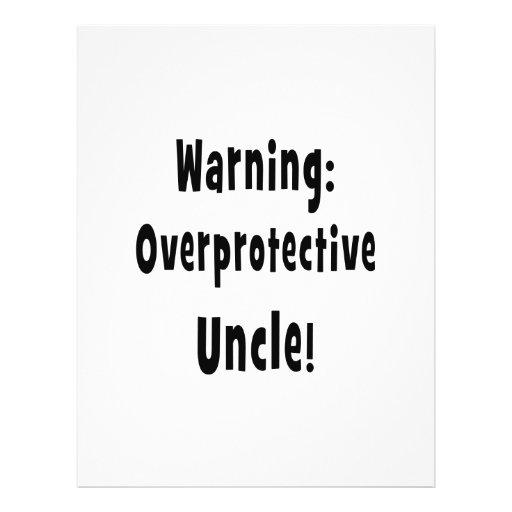 warning overprotective uncle black flyer