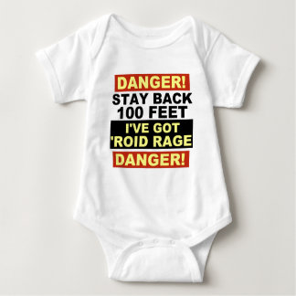 Warning Roid Range Baby Bodysuit