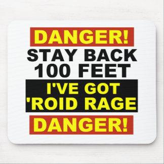 Warning Roid Range Mouse Mat