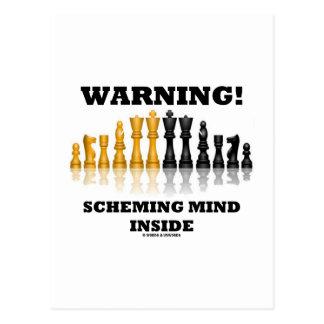 Warning! Scheming Mind Inside (Chess Set) Post Card
