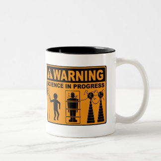Warning! Science in Progress©: Frankenstein Mug