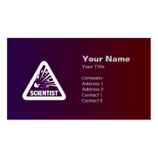 Warning: Scientist! card Pack Of Standard Business Cards