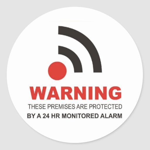 Warning Security Sticker