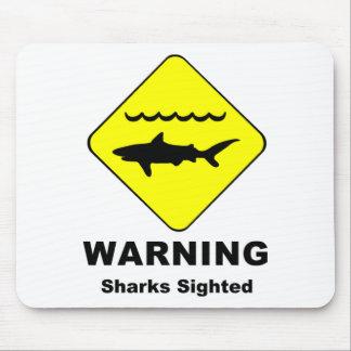 Warning Sharks Sighted Symbol Mouse Mat