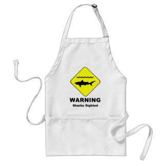 Warning Sharks Sighted Symbol Standard Apron