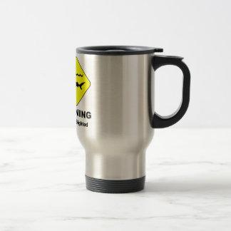 Warning Sharks Sighted Symbol Travel Mug