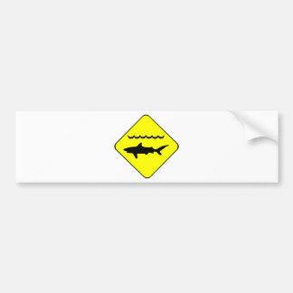 Warning Sharks Symbol Bumper Sticker