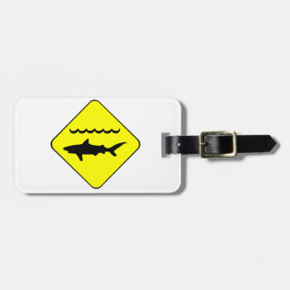 Warning Sharks Symbol Luggage Tag