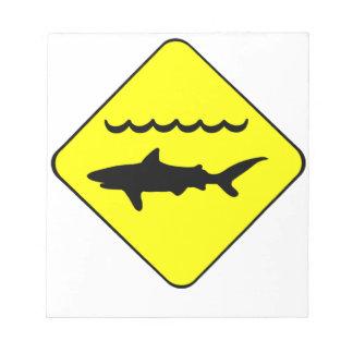 Warning Sharks Symbol Notepad