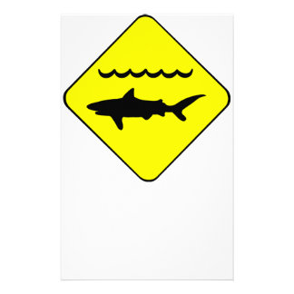 Warning Sharks Symbol Stationery