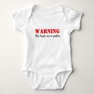 Warning She feeds me in public Baby Bodysuit