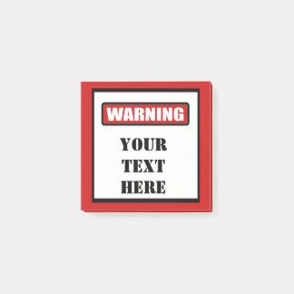 Warning Sign Custom Post It 3x3 Post-it Notes