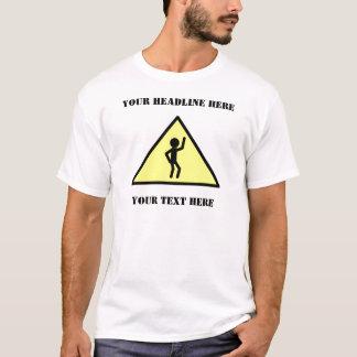 Warning Sign: Dancing Figure T-Shirt