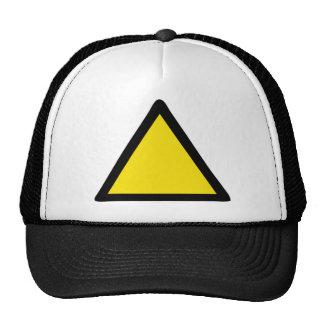 warning sign hats