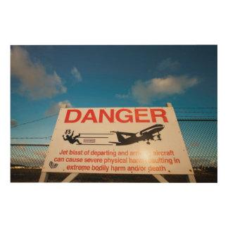 Warning sign near St. Maarten Airport,