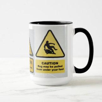 Warning signs mug