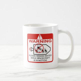 Warning / Spacecraft Coffee Mugs