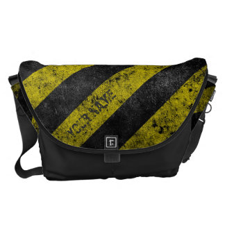 Warning Stripes Customizable Courier Bags