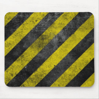 Warning Stripes Mouse Mat