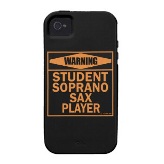 Warning! Student Soprano Sax Player! iPhone 4 Covers